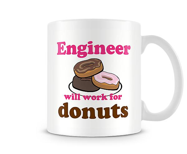 Engineer Work For Donuts Mug