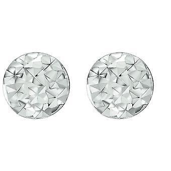 Bella D Cut Round Stud Earrings - Silver