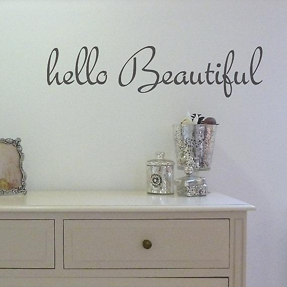 Hello beautiful Wall Sticker