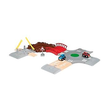 BRIO Car Racing Kit 33819 Wooden Roailway Set Add On - Great Fun
