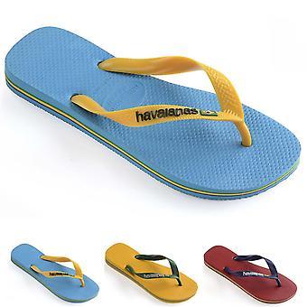 Unisex Kids Havaianas Logo Lightweight Summer Sandal Toe Post Flip Flops