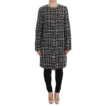 Dolce & Gabbana Gray Wool Knitted Trench Coat -- GE10940272