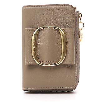 See By Chloé Beige Leather Wallet