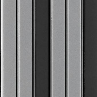 Vet Stripe zwart zilver behang metalen Shimmer functie muur Modern Rasch