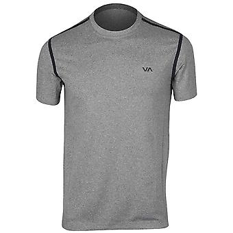 RVCA Mens VA Sport SS Grappler Compression Training Shirt - Gray