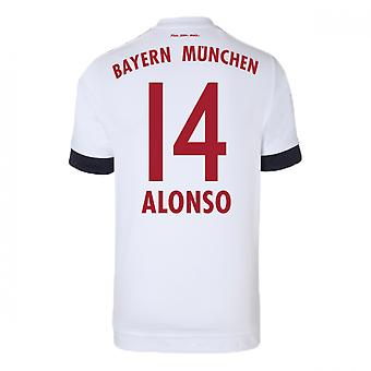 2015-16 Bayern Munich Away Shirt (Alonso 14) - Kids