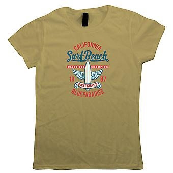 Surf Beach Womens T-Shirt | Sand Sea Sun Ocean Tan Sunbathing Lighthouse Wave  | Swimming Surfing Windsurfing Scuba Snorkel Diving  | Pop Culture Gift Her Mum