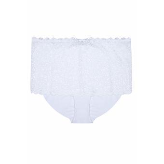 Wit glans Lace Shorts
