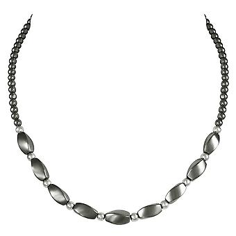 Eternal Collection Fascination Hematite Beaded Necklace