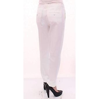 Dolce & Gabbana White Cotton Solid Pattern Dress Pants -- GSS1012869