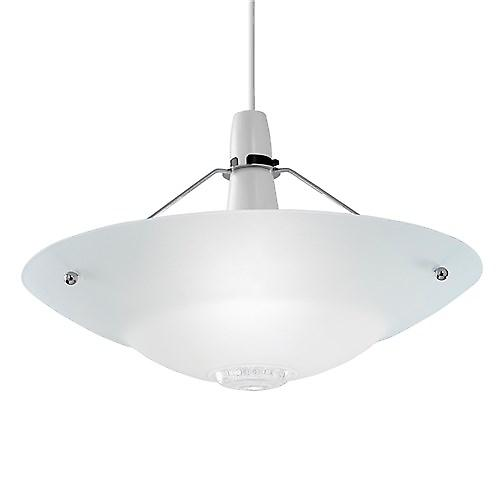 Endon NE-81 Non Electric Chrome Pendant Shade With Opal Glass