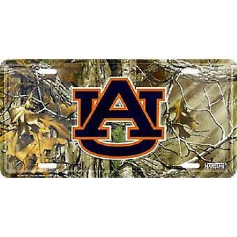 Auburn Tigers NCAA Camo License Plate