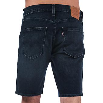 Mens Levis 502 Taper Hemmed Shorts In Denim- Zip Fly- Five Pocket Design- Sits