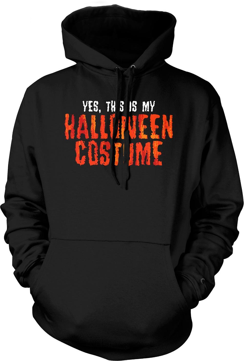 Mens hettegenser - Ja dette er min Halloween kostyme