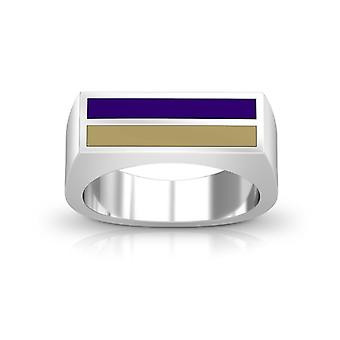 James Madison University Foundation Enamel Ring In Purple And Light Brown