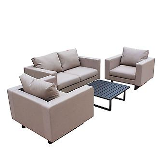 Maze Lounge Ego Baby 2 Seat Sofa Set in Taupe