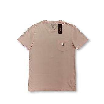 Ralph Lauren Polo custom fit T-shirt in pale pink