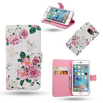 Iphone 6/6s Cas/portefeuille en cuir-Roses