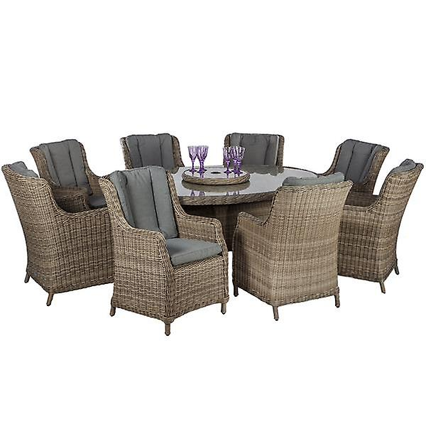 Royalcraft Wentworth Rattan 8 Seat Oval Comfort Dining Set