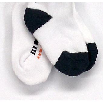 Stride Rite Shoe Boys Comfort Seam 3-Pair White / Blue Socks