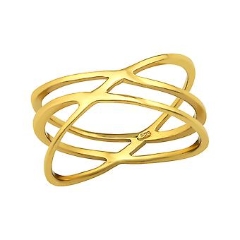 Intertwining - 925 Sterling Silver Plain Rings - W38553X