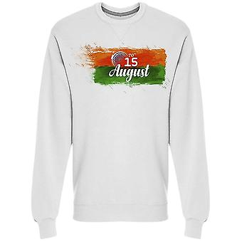 August 15 Independence India Sweatshirt Men's -Image by Shutterstock