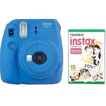 Fujifilm instax mini 9 kit 10 cobalt blue prints