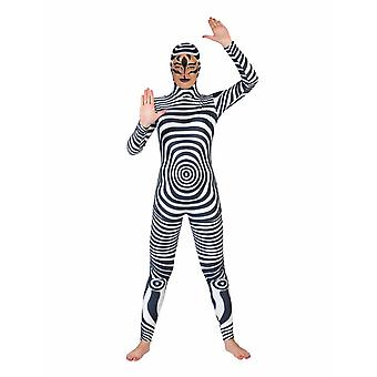 Zebra Catsuit Costume Animaux Animaux Costume Wild Horse Carnaval Carnaval Dames