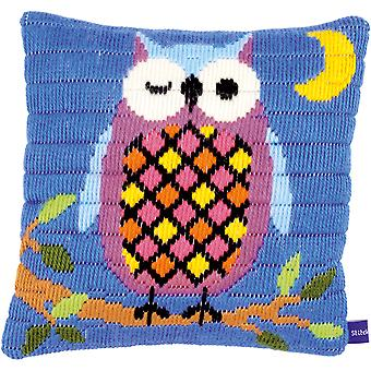 Owl At Night Cushion Longstitch Kit-10