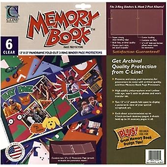 Memory Book Panoramic Fold Out Page Protectors 12