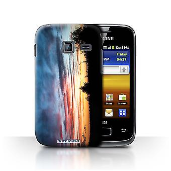 STUFF4 Case/Cover for Samsung Galaxy Y Duos/S6102/Red, Orange & Blue/Sunset Scenery