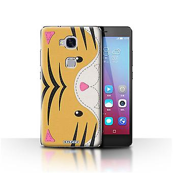 STUFF4 Case/Cover for Huawei Honor 5X/GR5/Tiger/Animal Stitch Effect