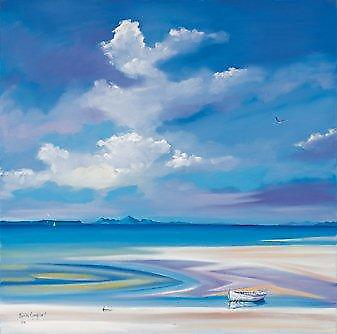 Daniel Campbell print - Silver Sands, Eigg and Rum