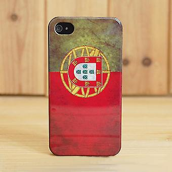 IPhone cover 4/4S-Flag Portugal (transparent)