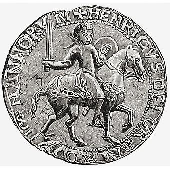 Große Dichtung von Henry I C 1068, 1 1135 König von England aus dem Buch kurze Geschichte des englischen Volkes von JR Green veröffentlicht London 1893 PosterPrint