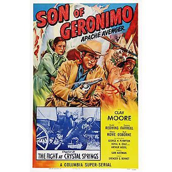 Son till Geronimo Apache Avenger oss affischkonst från vänster Eileen Rowe Clayton Moore Rodd rödvingetrast kapitel 10 kampen på Crystal Springs 1952 film affisch Masterprint