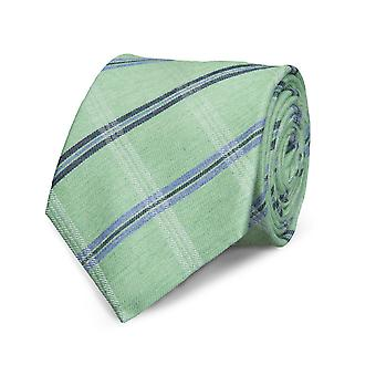 Marcell Sanders men's classic tie silk silk tie Green striped