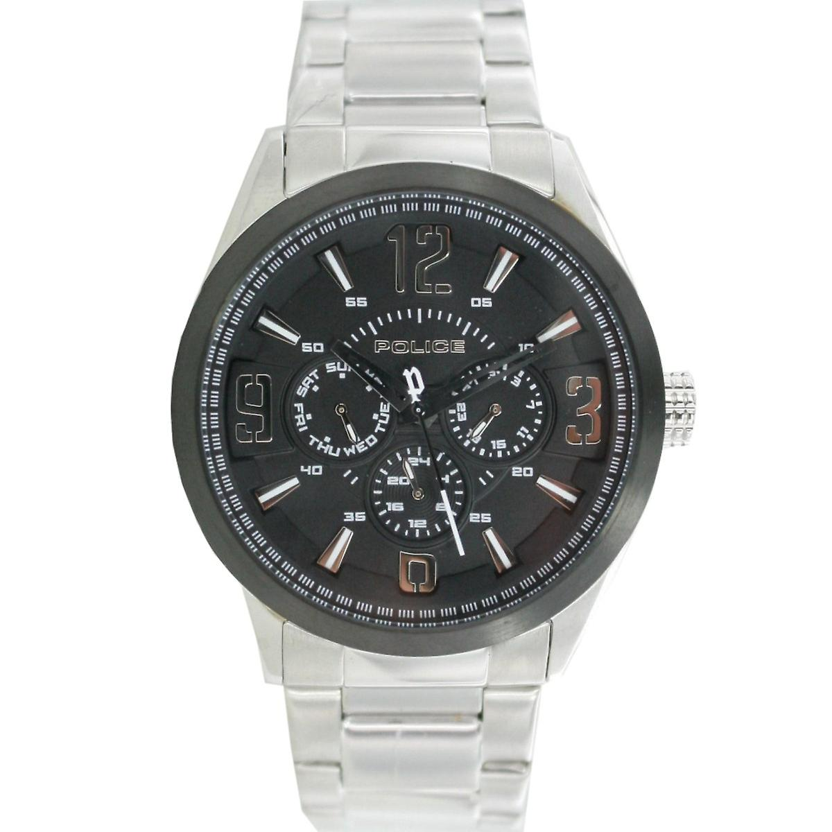 Police mens watch wristwatch stainless steel analog PL. 13894JSSB / 02 M