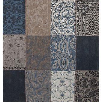 Denim Patchwork Square Rug Vintage - Louis De Poortere