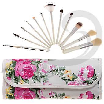 Body Collection Luxury Make Up Brushes Set & Brush Roll