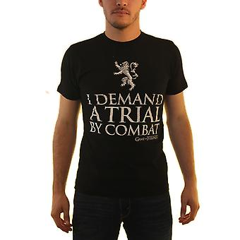 Game Of Thrones Tyrion Quote Men's Black T-shirt