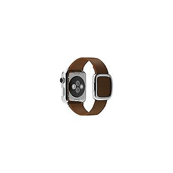 Apple 38 mm moderne gesp-grote-klockrem-Brown-Watch (38 mm)