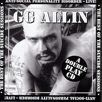 Gg Allin - selvmord sessioner/Anti-Social Pedersen [CD] USA Importer
