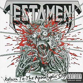 Testament - Return to the Apocalyptic City [CD] USA import