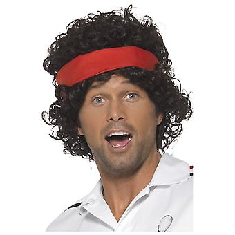80s tennis player wig