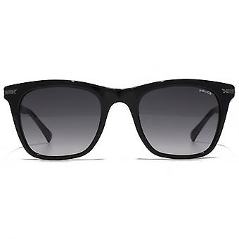 Police Fine Temple Square Sunglasses In Shiny Black