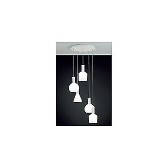 Mélange de verre PASCOA EGLO plafonnier 5 pendentif lumineux