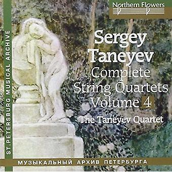 Taneyev String Quartet - Taneyev: Komplet strygekvartetter 4 nr. 6 & 5 [CD] USA import
