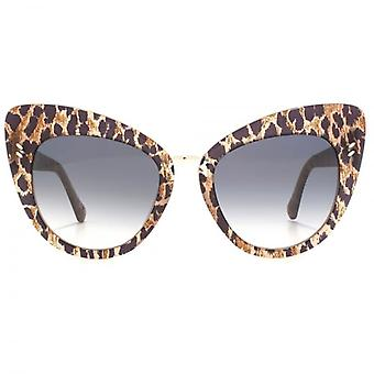 Lunette Cateye Stella McCartney Essentials métal Bridge dans Leopard