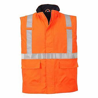 Portwest - Bizflame Rain Specialist Safety Hi-Vis Antistatic FR Bodywarmer
